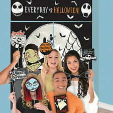 NIGHTMARE BEFORE CHRISTMAS Scene Setter Halloween party photo backdrop w/props