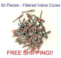 BULK-FIFTY (50) Filtered Valve Stem Long Cores stem cores for tire balance beads