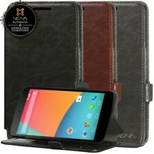 For Google Motorola Nexus 6 Wallet Folio Case Cover Stand Card Holder PU Leather