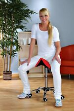 Massage Beauty Therapy Gas Stool Height Adjustable  red