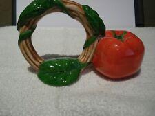 New ListingTwo Large Unique Fitz & Floyd Tomato Napkin Rings Discontinued Rare
