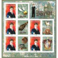 FEUILLE F4024A HARRY POTTER , AUTOADHESIFS (Fête du timbre 2007)