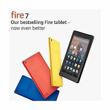 "Amazon Kindle Fire 7 Tablet With Alexa 7"" IPS Display 16gb eBook Reader Yellow"