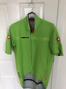 Castelli GABBA Jersey Short Sleeved, Green, Size XL, Men's