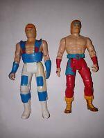 1986 Kenner lot of 2 Chuck Norris Karate Kommandos Action Figures Incomplete