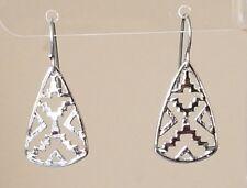 Southwest Aztec Tribal Design Silver Plated Hook Drop Dangle Earrings Womens