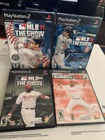 MLB The Show 08, 10, 11 & 2K11 (PlayStation 2, PS2 2011) Sealed 4 Game LOT!!