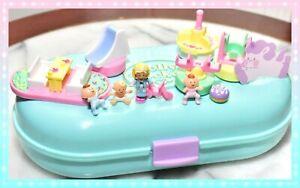 ❤️Polly Pocket Vtg 1992 Babysitting Stamper Baby Stampin' Playground COMPLETE❤️