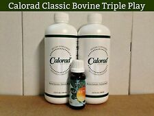 Calorad Triple Play/ 2 Classic Bovine & 1 Agrisept / As Seen on TV / Free S&H