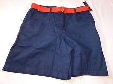 American Living Women's Ladies Shorts short Size 10 Navy Blue w/ Belt NWT