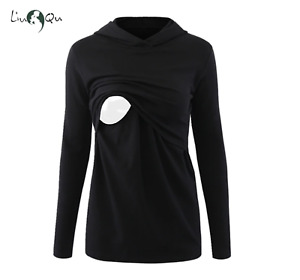 Women's Maternity Clothes - Pullover Tops Nursing Breastfeeding Hoodie