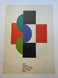 Exposition ItalienneSonia Delaunay 1969 Affiche Originale