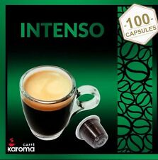 100 Karoma capsules Compatible Nespresso Machines ( Intenso) ( Strong Blend)