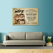 Premium Poster Romantic Quotes Love Gift for Wife from Grumpy Old Husband