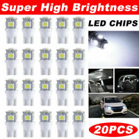 20x 6000K Pure White T10 192 921 5050 LED Interior/License Plate Light Bulbs SMD