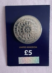 2007 £5 Coin Diamond Wedding Anniversary 1947-2007 Uncirculated Change Checker