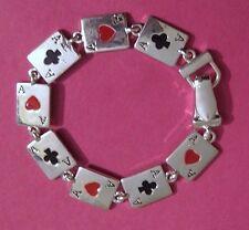 ACE HEART CLOVER POKER BLACKJACK CARD BRIDGE GAMBLING LUCKY BRACELET