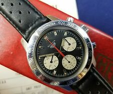 VINTAGE 1970 HEUER AUTAVIA 2446 C Tachy Chronograph ONE OWNER HUGE PROVENANCE