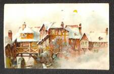 CHRISTMAS HOLIDAY RURAL SCENE WHEEL HOLD TO LIGHT HTL NOVELTY POSTCARD (c. 1910)