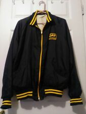VINTAGE 80's CAT Diesel Power Caterpillar  Black Jacket Mens Size L