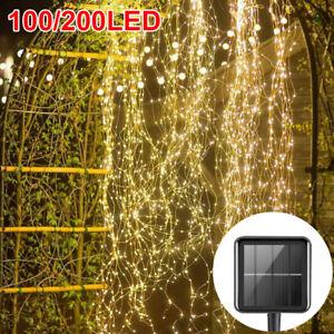 200LED Solar Power Waterfall Tree Vine String Lights Fairy Lamps Garden Outdoor