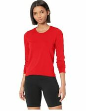 ASICS Women's Tactic Court Long Sleeve Top, Red, XX-Large