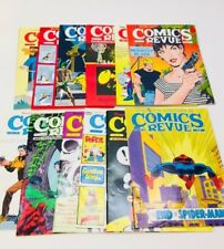 Lot Of 12 - 1980's COMICS REVUE Books Bloom County, Spider-man, Popeye, More