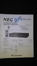 Nec av-330 bu service manual repair schematic av surround sound processor