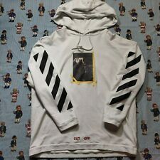OFF WHITE CUT OFF Hoodie Sweatshirt Adult XL Arrows Over-sized Annunciation 2013