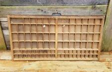 Hamilton Print Cabinet Wood Block Type Drawer Shelf Tray