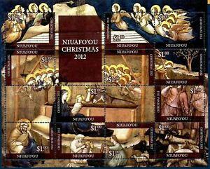 Niuafo'ou 2012 - Christmas Nativity Scene - Miniature Sheet - MNH