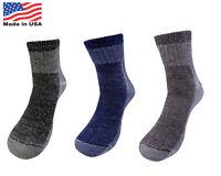 4 Pairs 71% Premium Merino Wool Quarter-Ankle Hiking Socks Made in USA Men Women