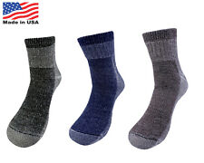 4 Pairs 71% Premium Merino Wool Quarter-Ankle Hiking Socks Made in USA Men Women