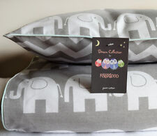 100% COTTON Cot Duvet Cover Set Boys & Girls Grey Chevron Elephants 100x120cm