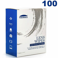 Lens Cleaning 100 Wipes Eye Glasses Computer Optical Lense Cleaner US Stock
