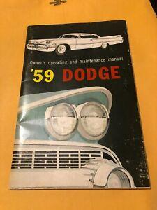 Dodge 1959 Operating and Maintenance manual