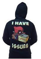 Deadpool I Have Issues Marvel Comics Adult Zip Up Hoodie