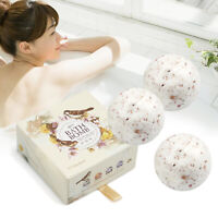 Scented Bath Bomb Fizzy Sea Salt Dried Flower Ball Gift Wrap Rose Lavender