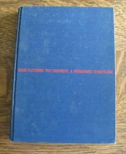 Electronic Test Equipment : A Programmed Introduction Hardback 1968