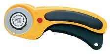 OLFA RTY-2/DX - Cúter rotativo con botón pulsador de bloqueo