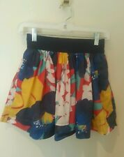 *Hollister* Floral Pattern Gathered Skirt W Lining Size S