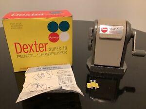 Apsco Dexter Super - 10 Pencil Sharpener in Original Box 6 Hole