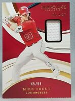 MIKE TROUT ⭐ 2020 Immaculate Collection GU Patch Relic /99 Los Angeles Angels ⚾