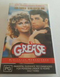Grease 20th Anniversary Edition Vhs Pal Tape