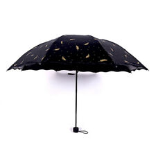 Women Folding Umbrella Colour Changing Compact Ladies Windproof Anti-uv Sun Rain