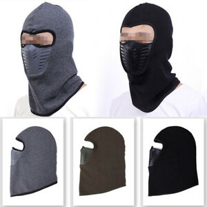 Fleece Ski Face Mask Snowboard Balaclavas Hood Warm Hat for Motorcycle Windproof