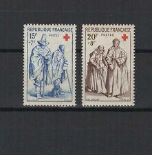 FRANCE 1957 au profit de la Croix-Rouge 2 timbres neufs /T1853