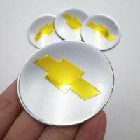 "4x 2.56"" 65MM Car Wheel Center Hub Cap Emblem Badge Decal Sticker for Chevrolet"