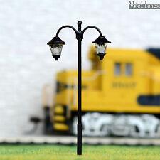 10 pcs HO scale Lamppost cold LED Street Light no hot/melt Long life Lamp #1713