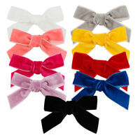 Girls Kids Baby Velvet Bowknot Hair Bow Aligator Clips Knotted Hairpin Headwear